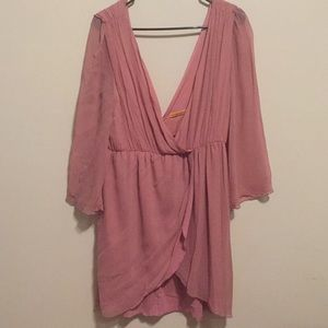 Chiffon pink flow dress